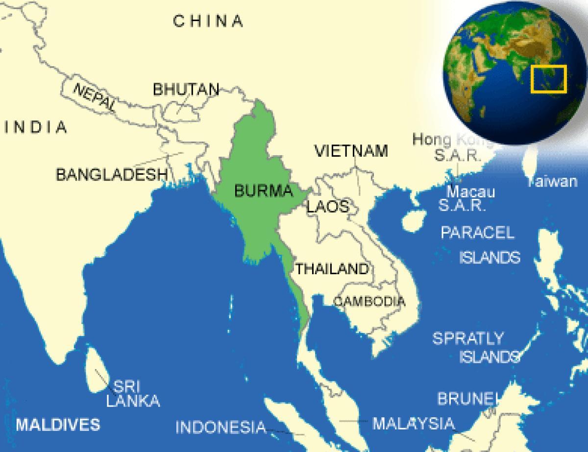 Myanmar On Map Of Asia.Map Of Burma Myanmar Burma Or Myanmar Map South Eastern Asia Asia