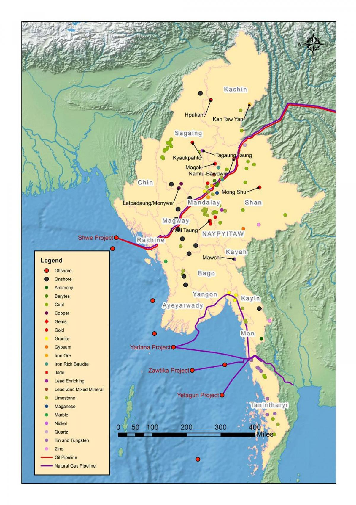 Map Of Asia Resources.Myanmar Natural Resources Map Map Of Myanmar Natural Resources