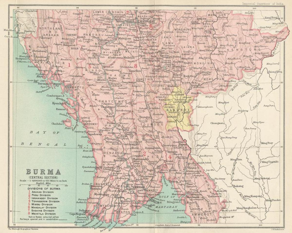 Map Of Upper Asia.Upper Myanmar Map Map Of Upper Myanmar South Eastern Asia Asia