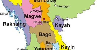 Myanmar map photo