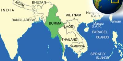 Burma or Myanmar map