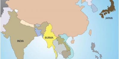 Myanmar burma map maps myanmar burma south eastern asia asia myanmar in world map gumiabroncs Image collections