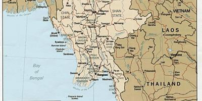 Myanmar map hd