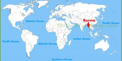 Burma location on map