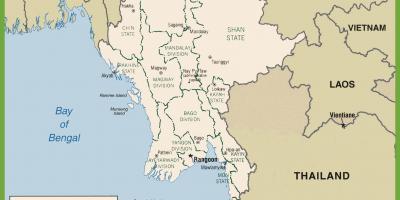 Burma Political Map.Myanmar Political Map Burma Political Map South Eastern Asia Asia
